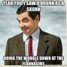 Image result for drunk as a skunk meme""