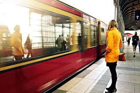 HD wallpaper: people, woman, girl, train, berlin, blonde, commute ...