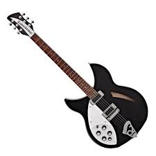 Rickenbacker 330 Left-Handed, Jetglo at Gear4music
