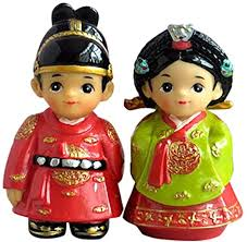 Yowinlo Statue Ornaments Sculptures Costume Korea Traditional ...