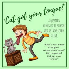 IDIOM OF THE WEEK: Cat Got Your Tongue... - Cairns Language Centre    Facebook