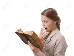 Yawning Girl Reading A Boring Book Stock Photo, Picture And Royalty Free  Image. Image 19559231.